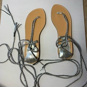 Jessica Simpson Sandals Strappy Lace Up Gladiator